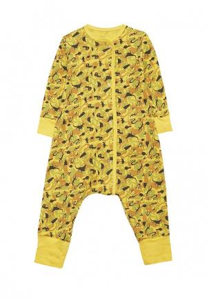 Пижама Bambinizon. Цвет: желтый