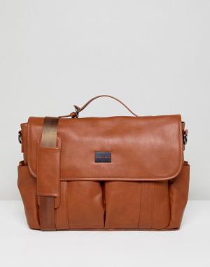 Peter Werth Светло-коричневая сумка почтальона. Цвет: рыжий