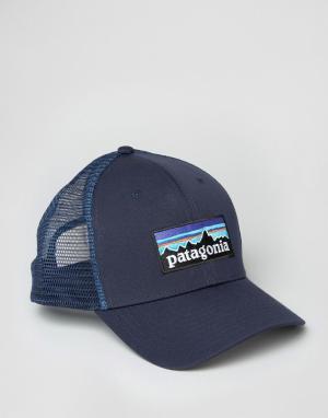 Patagonia Темно-синяя кепка с логотипом. Цвет: темно-синий