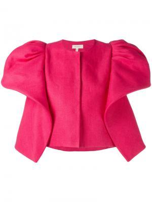 Пиджак со структурированными плечами Delpozo. Цвет: розовый и фиолетовый