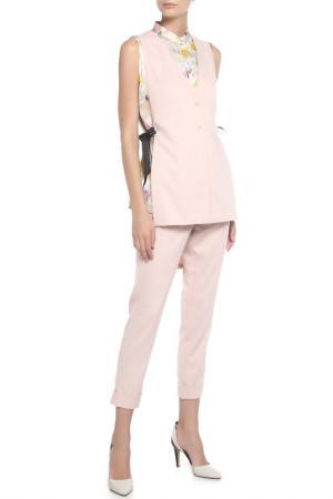 Костюм:жилет,брюки 7/8 Adzhedo. Цвет: розовый
