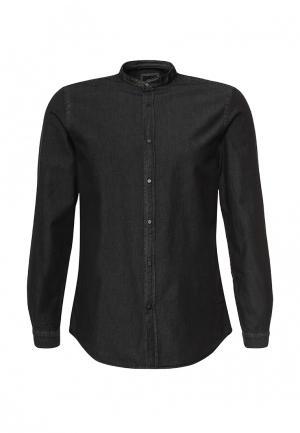 Рубашка джинсовая Burton Menswear London. Цвет: черный