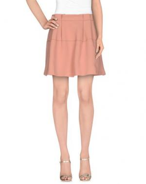 Мини-юбка BONSUI. Цвет: лососево-розовый