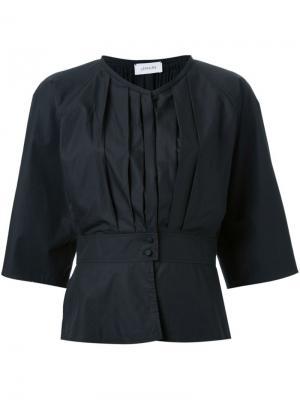 Рубашка со складками Lemaire. Цвет: чёрный