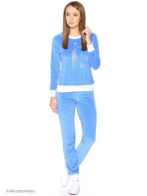 Домашний костюм-толстовка, брюки NAGOTEX. Цвет: голубой