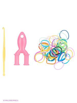 Набор для плетения Loom Bands. Цвет: желтый, зеленый, голубой, красный