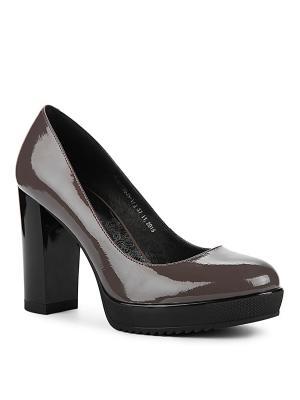 Туфли EMILIA ESTRA. Цвет: темно-серый