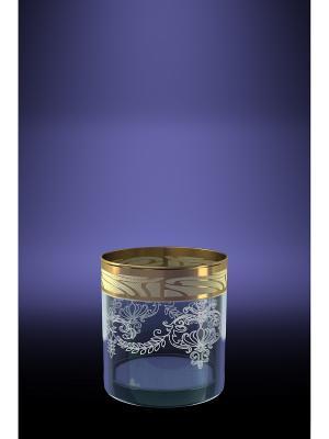 Набор 6 стаканов ГЕО для виски с рисунком Мускат Гусь-Хрустальный. Цвет: прозрачный