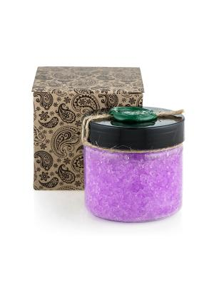 Натуральная соль мертвого моря для ванны  с аргановым маслом и лавандой, 350 гр Huilargan. Цвет: фиолетовый