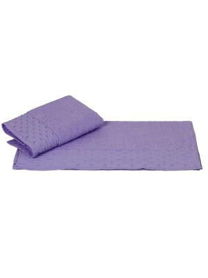 Махровое полотенце 50x90 GOFRE лиловое,100% хлопок HOBBY HOME COLLECTION. Цвет: лиловый