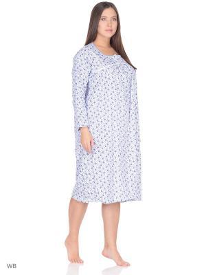 Ночная сорочка lawiggi. Цвет: синий
