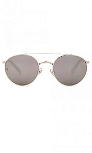Солнцезащитные очки indio Wonderland. Цвет: металлический серебряный