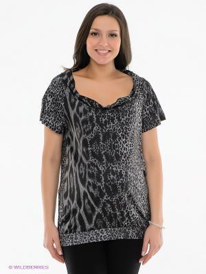 Блузка Love2Wait. Цвет: серый, светло-серый, черный