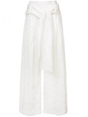 Широкие брюки со складками Rosie Assoulin. Цвет: белый