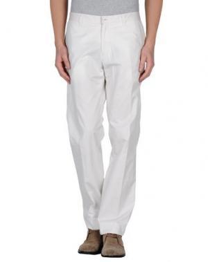 Повседневные брюки REPORTER. Цвет: белый