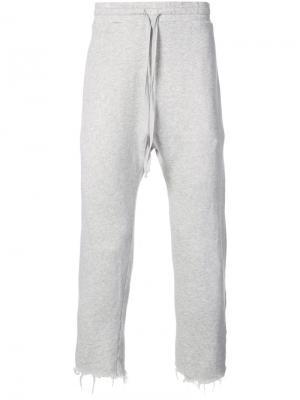 Повседневные спортивные брюки R13. Цвет: серый