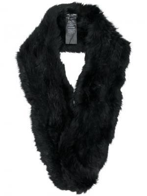 Шарф-снуд из кроличьего меха Yves Salomon Accessories. Цвет: чёрный