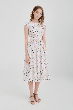 Шелковое платье Alexander Terekhov. Цвет: розовый