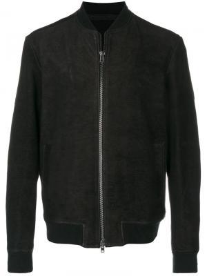 Классическая куртка-бомбер Salvatore Santoro. Цвет: коричневый