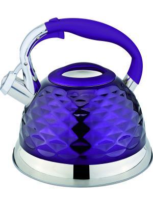 Чайник со свистком 2,7 литра. RAINSTAHL. Цвет: синий, темно-фиолетовый