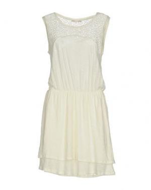 Короткое платье MAJE. Цвет: слоновая кость