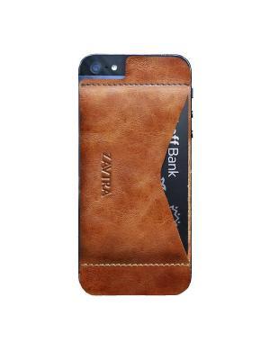 Кошелек-накладка для iPhone 5/5s/SE ZAVTRA. Цвет: коричневый