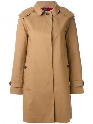 Пальто на молнии Sealup. Цвет: коричневый