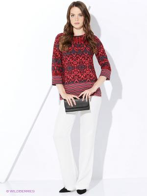 Блузка AVELON. Цвет: красный, серый