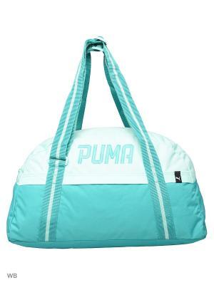 Сумка Fund. Sports Bag Female Puma. Цвет: морская волна