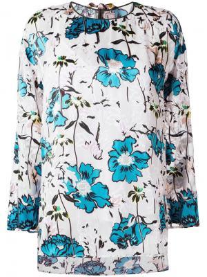 Блузка с цветочным принтом Antonio Marras. Цвет: белый