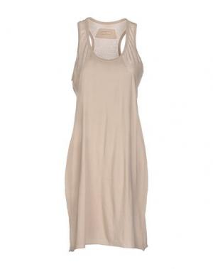 Короткое платье ALMERIA. Цвет: песочный