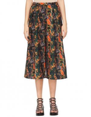 Юбка-брюки J Koo. Цвет: multicolor