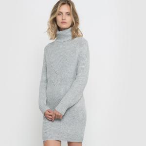 Платье-пуловер R studio. Цвет: серый меланж,черный