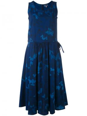 Платье с цветочным принтом Blue Japan. Цвет: синий