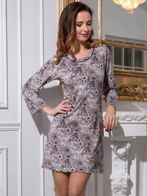 Ночная сорочка MIA-MELLA. Цвет: коричневый