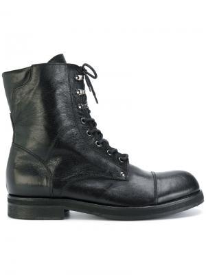 Ботинки на шнуровке Leqarant. Цвет: чёрный