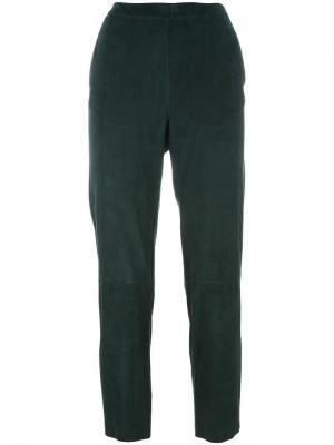 Укороченные брюки Drome. Цвет: зелёный