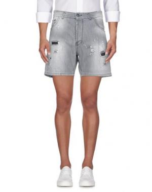 Джинсовые шорты YES LONDON. Цвет: серый