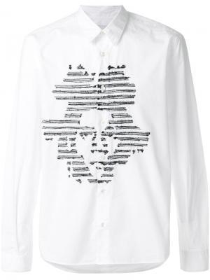 Рубашка с вышивкой J.M Jimi Roos. Цвет: белый
