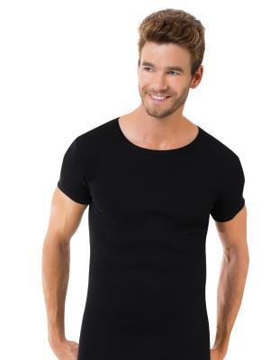 Футболка домашняя мужская Oztas underwear. Цвет: черный
