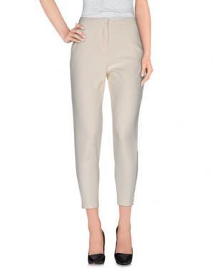 Повседневные брюки FAIRLY. Цвет: слоновая кость