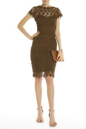 Платье PAPER DOLLS. Цвет: khaki