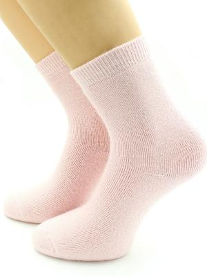 Носки шерстяные HOBBY LINE. Цвет: бледно-розовый