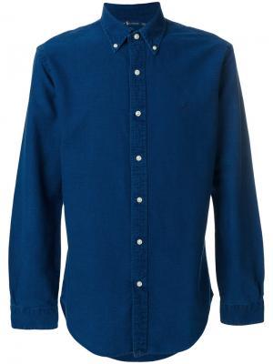 Классическая джинсовая рубашка Polo Ralph Lauren. Цвет: синий