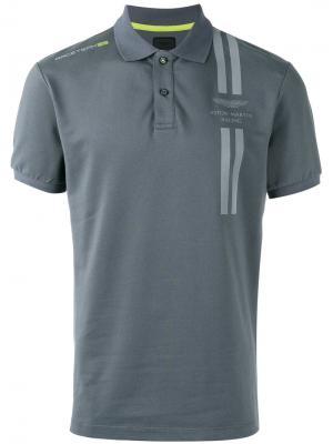 Рубашка-поло с принтом логотипа Hackett. Цвет: серый