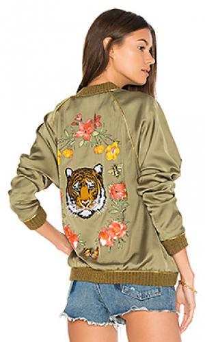 Куртка бомбер garden tiger Lauren Moshi. Цвет: военный стиль