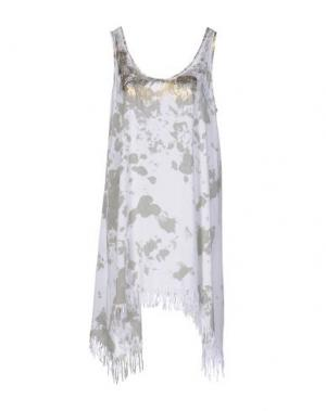 Короткое платье MONICA •LENDINEZ. Цвет: зеленый-милитари