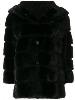 Норковая шуба Istambul Simonetta Ravizza. Цвет: чёрный