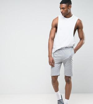 ASOS Трикотажные пижамные шорты TALL. Цвет: серый