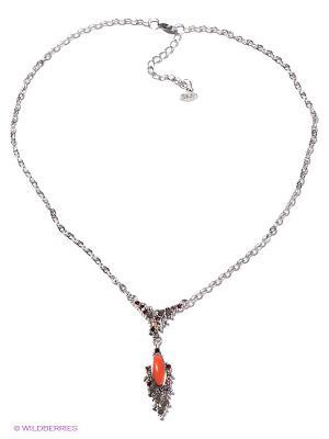 Колье Jenavi. Цвет: коралловый, серебристый, красный